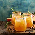 An Apple Cider & Thyme Bourbon Sipper