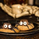 Chocolate Peanut Butter Cup Spider Cookies