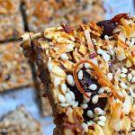 Chocolate Chip Oatmeal Flax Seed Bars with Sea Salt