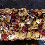 Puffed Barley Pistachio Apple Bars with Chia Seeds
