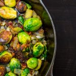 Roasted Brussels Sprouts with Crispy Pancetta & Balsamic Glaze