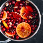 Mulled Wine with Oranges, Cranberries, Cloves, & Cardamom