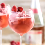 Cool Off with a Raspberry Sorbet Champagne Float