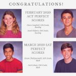 4 Perfect Scores on ACTs and SATs in Westfield