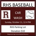 Sunday 10/11: RHS Baseball Car Wash!