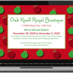Oak Knoll's 27th Annual Royal Boutique Goes Virtual!