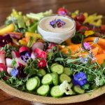 Healthy Super Bowl Apps: Microgreen & Edible Flower Crudité Boards