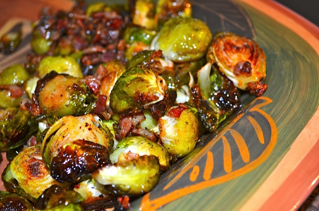 Roasted Brussels Sprouts W Balsamic Glaze Pancetta